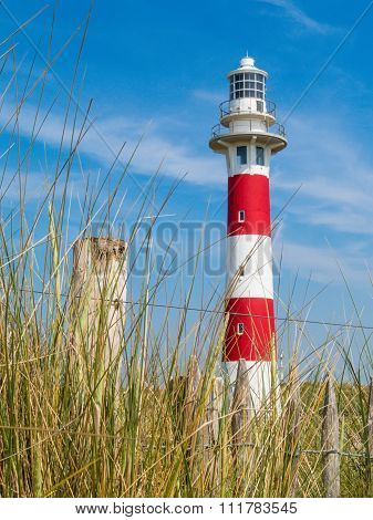 Lighthouse on the coast of the North Sea
