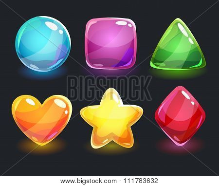 Cool shiny glossy colorful shapes