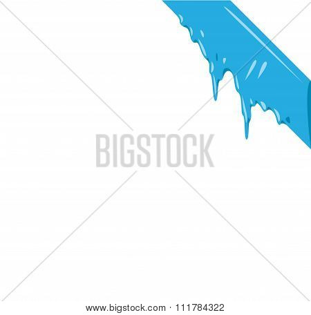 Frozen snow winter vector ribbon