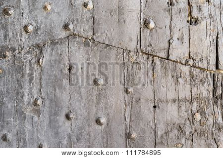 Vintage Texture Old Wooden Boards With Rivets