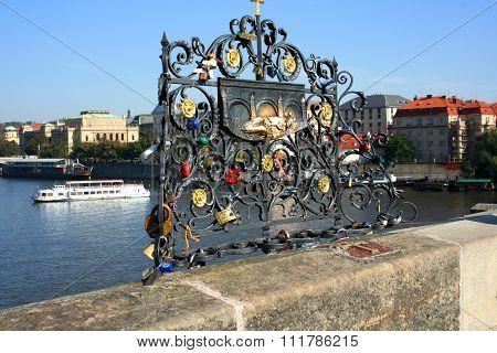 Nepomuk, Charles Bridge, Prague, Czech Republic