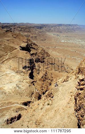 Judaean Desert, Masada ruin is popular tourist attractions in Israel