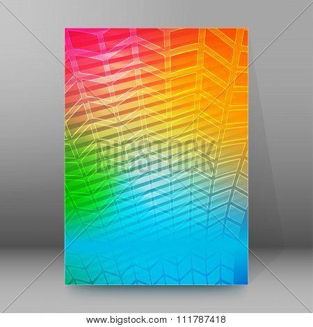 Celebration Background Rainbow Title Page Booklet Layout