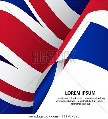 The United Kingdom Uk Waving Flag Background
