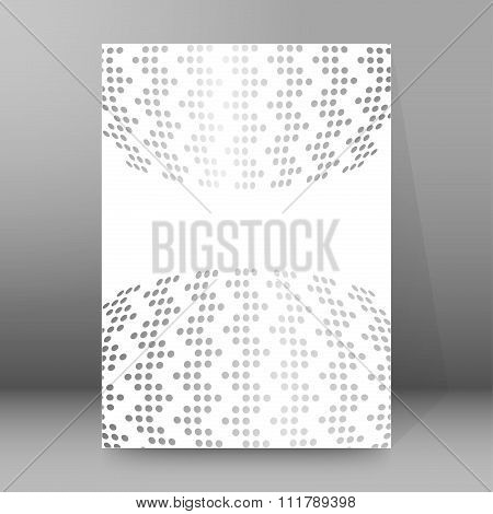 Dot Pattern Background Report Title Page Booklet