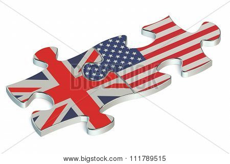 Great Britain And Usa Puzzles From Flags