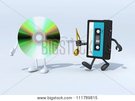 Relay Between Old Audio Tape And Cd Audio