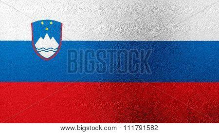 Flag of Slovenia, Slovenian Flag painted on glass