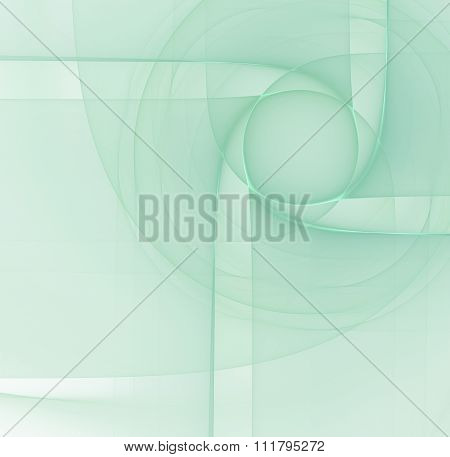 Abstract Turquoise Light Background With Blue Colored Cubism Style Texture, Fractal