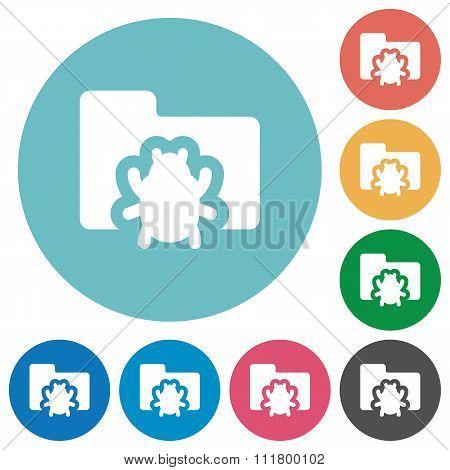 Flat Bug Folder Icons