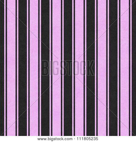 Pink And Black Striped Tile Pattern Repeat Background