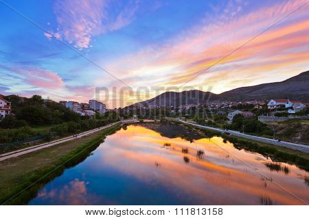 Cityscape of Trebinje - Bosnia and Herzegovina - architecture travel background