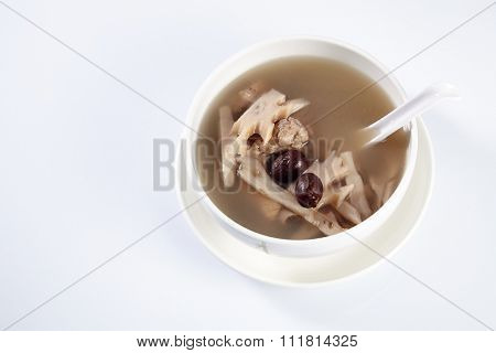 lotus root soup with pork rib and chinese red dates