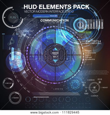HUD background outer space. infographic elements. futuristic user interface. Vector science Polygonal background. Futuristic HUD background. Vector science background.