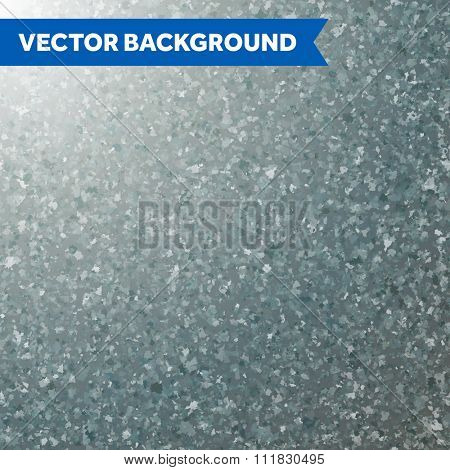 Vector zinc texture background.