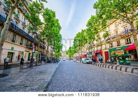Beautiful sightseeing of the streets in Paris, France