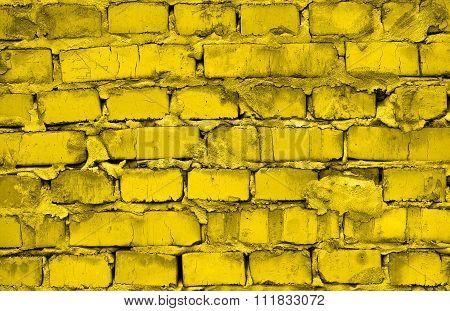 Fresh Gold Brickwork Detailed Texture Background