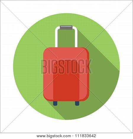 Suitcase flat icon