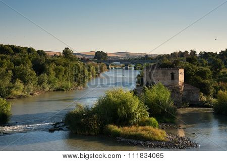 Guadalquivir River. View From Roman Bridge. Cordoba, Spain