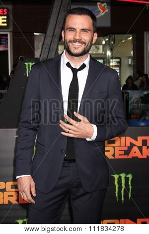 LOS ANGELES - DEC 15:  Juan Pablo Raba at the Point Break Premiere at the TCL Chinese Theater on December 15, 2015 in Los Angeles, CA