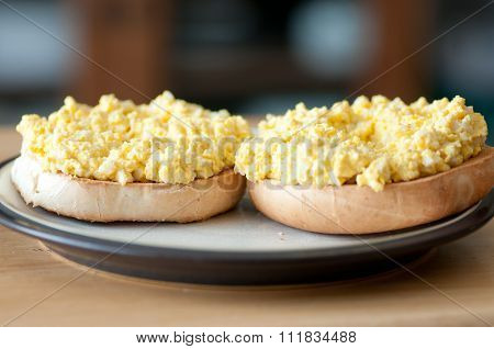 Egg Salad Sanwich On A Bagel