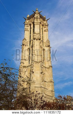 The Tour Saint-Jacques in Paris France UNESCO - the Pilgrim's Road to Santiago de Compostela