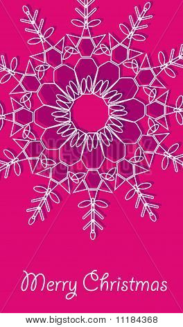 Christmas Vector Card With Large Snowflakes