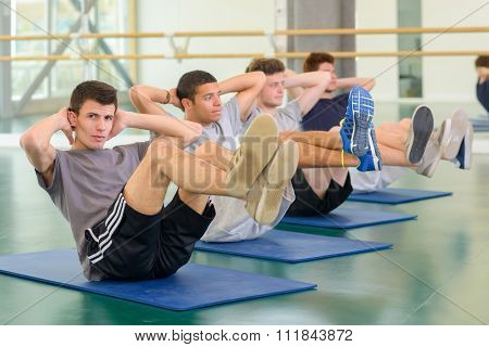 men on their mats