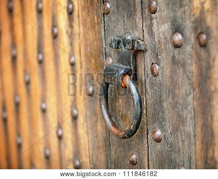 Old Metal Round Door Handle