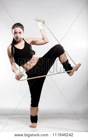 Fit Girl With A Rope