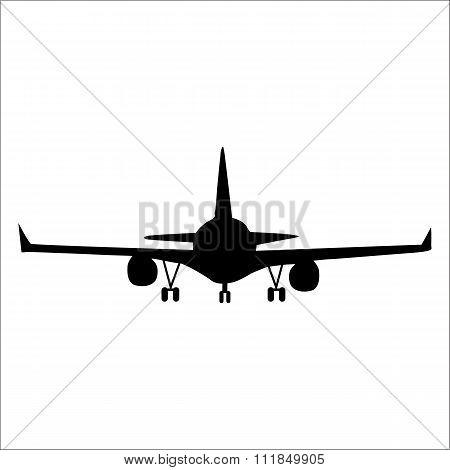 Planes black silhouette