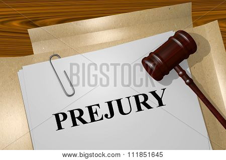Perjury Concept