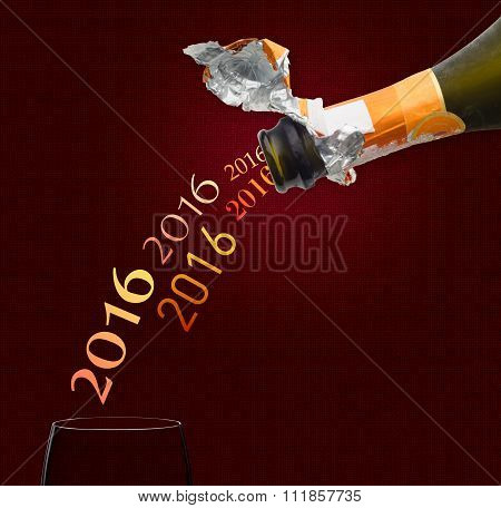 Champagne For New Year 2016