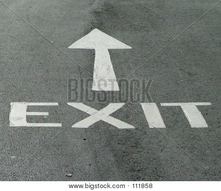 退出道路标志