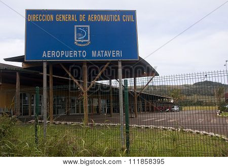 Hanga Roa, Ester Island, Chile - November 12, 2015: Airport In H