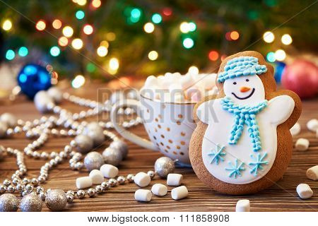 Gingerbread Snowman Decorated