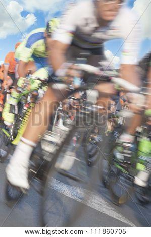 Cyclists, Motion Blur
