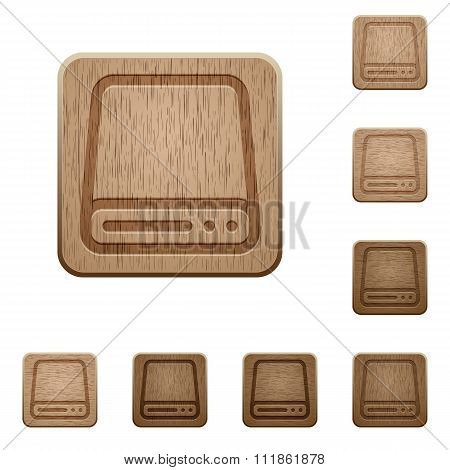 Hard Disk Drive Wooden Buttons