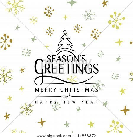 Hand Sketched Season's Greetings Logotype, Badge And Icon Typography