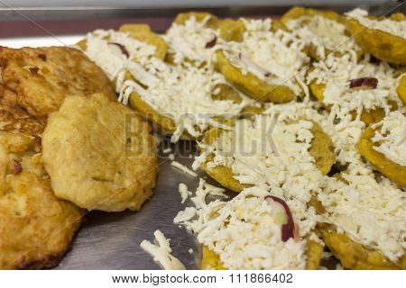 Fried Green Plantains Or Tostones, Typical Food From Nicaragua