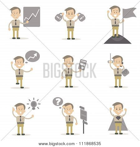 Set of Businessman Characters