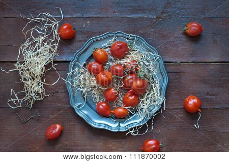 Hanging Cherry Tomatoes, Tomatoes Typical Of Campania