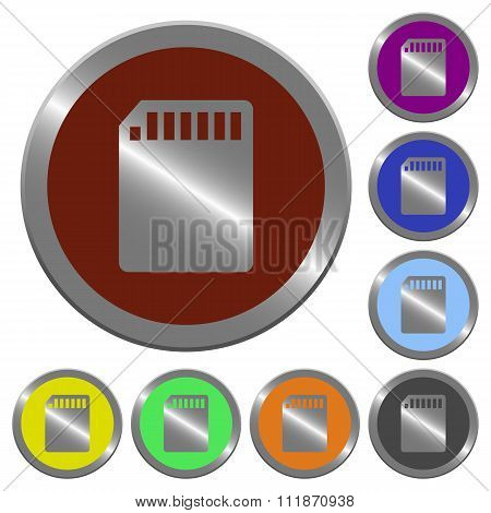 Color Memory Card Buttons