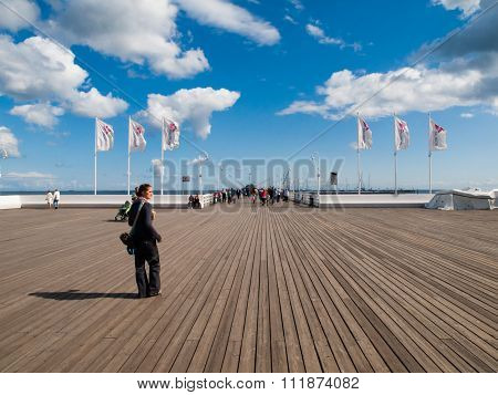 Woman on Sopot pier