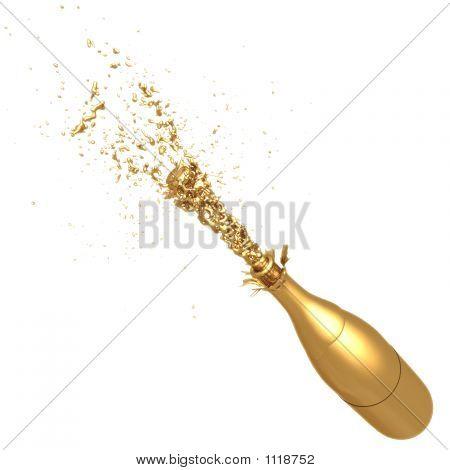 Champanhe dourado