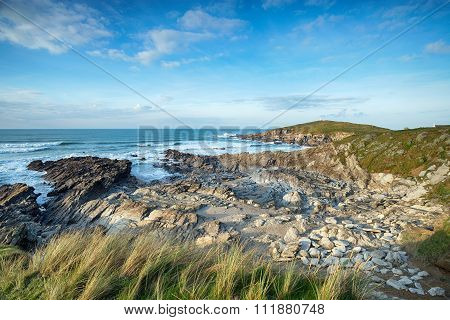 The Coast Path At Newquay In Cornwall