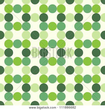 Green Circles Seamless Pattern