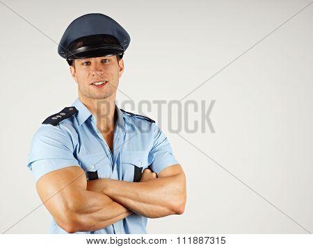 Portrait of smiling policeman