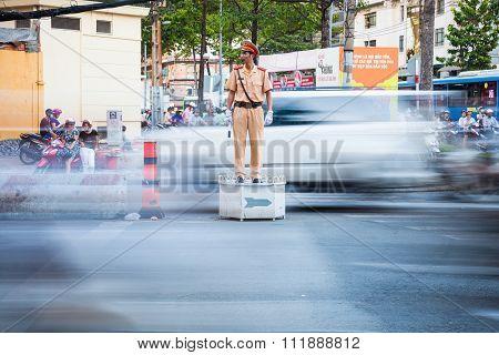Vietnamese policeman, Ho Chi Minh City