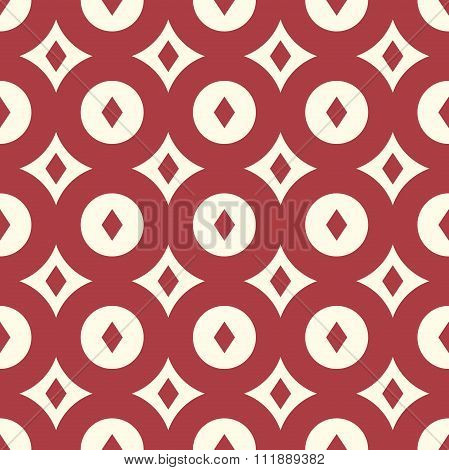 Red Retro Seamless Pattern
